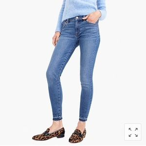 "J. Crew 8"" toothpick jean with let-down hem"